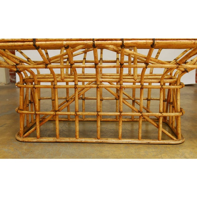 Mid-Century Architectural Bamboo Dining Table For Sale - Image 4 of 10