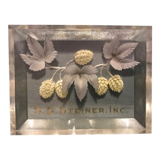 S. S. Steiner Inc. Etched Hops Paperweight For Sale