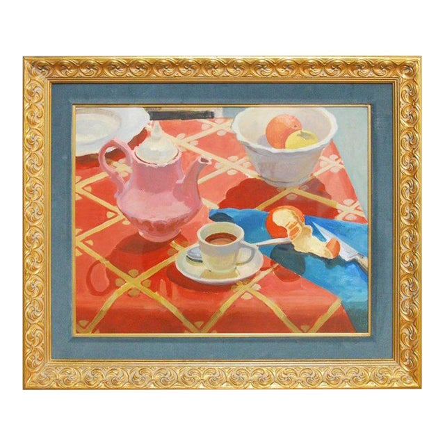 Breakfast Still Life Watercolor Painting by Lisa Esherick For Sale