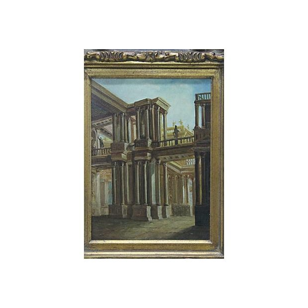 Greece Signed Oil Painting - Image 2 of 3