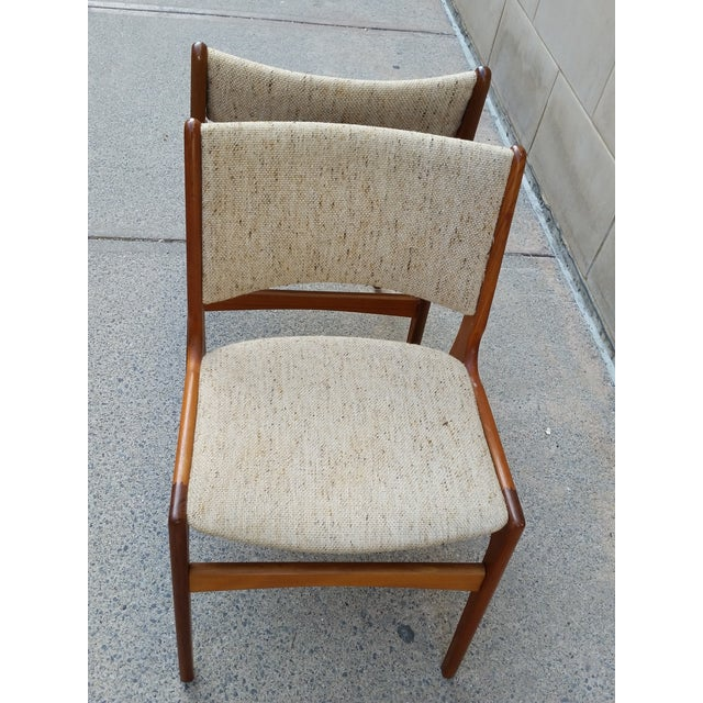Danish Modern Teak Dining Chairs - A Pair - Image 5 of 7