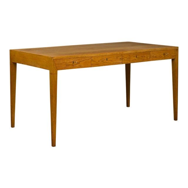 Mid-Century Modern Severin Hansen Oak Writing Desk For Sale