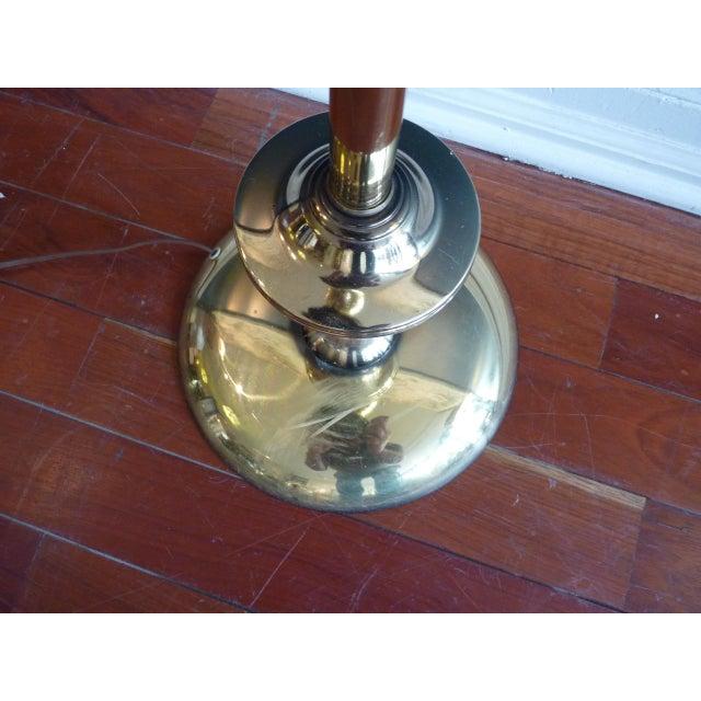 Brass Torchiere Floor Lamp - Image 5 of 6