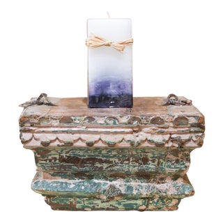 Shabby Chic Architectural Base Candle Holder For Sale
