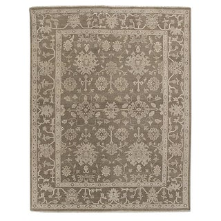 Restoration Hardware Neutral Oushak Rug - 8′ × 10′ For Sale
