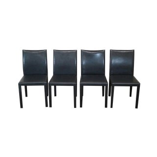 Maria Yee Leather Mondo Dining Chairs - Set of 4 For Sale