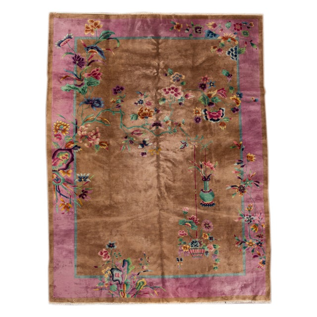 "Apadana Beige Chinese Art Deco Rug - 8'9"" X 11'6"" - Image 1 of 6"