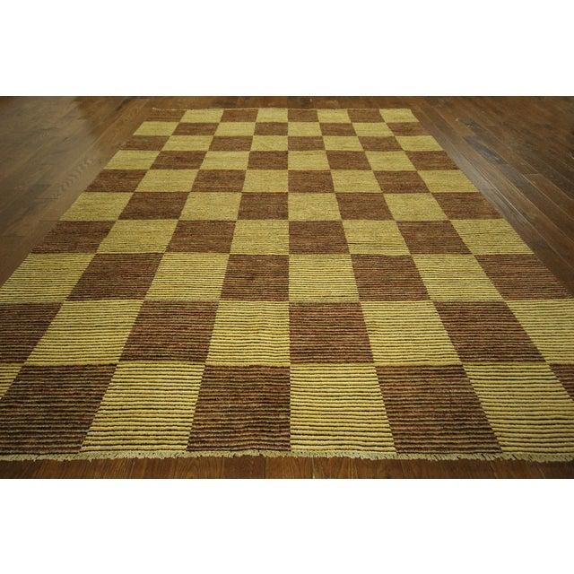 "Checkered Gabbeh Kashkuli Rug - 8'2"" x 10'6"" - Image 3 of 10"