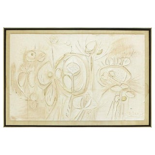 Mid-Century Modern Pressed and Carved Paperboard Wall Sculpture by George Ratkai For Sale