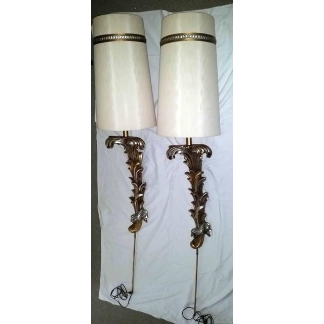 Regency Hollywood Gold Silver Wall Sconce Lamps - a Pair Last Call For Sale - Image 12 of 12