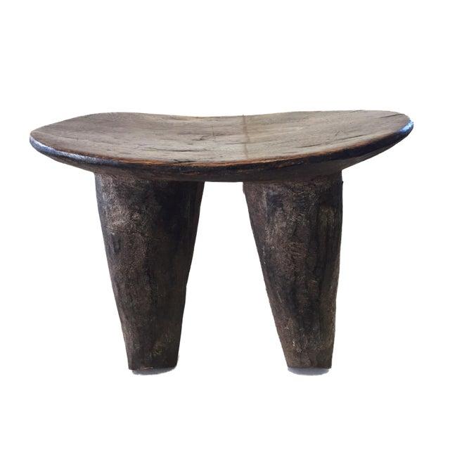 "African Senufo Wood Milk Stool I . Coast 12"" W For Sale - Image 4 of 6"