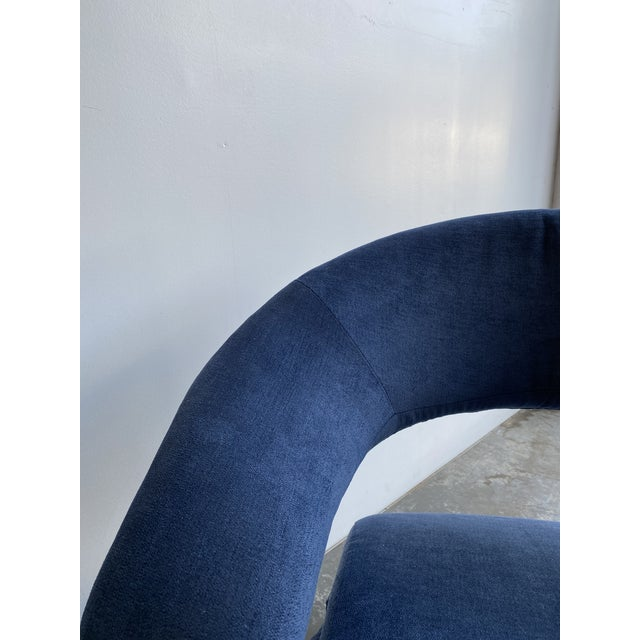 1980s 1980s Vintage Memphis Sculptural Cantilever Chairs and Ottoman For Sale - Image 5 of 13