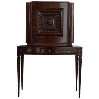 Mid-Century Modern Italian Secretaire Writing Desk Cabinet by Paolo Buffa For Sale