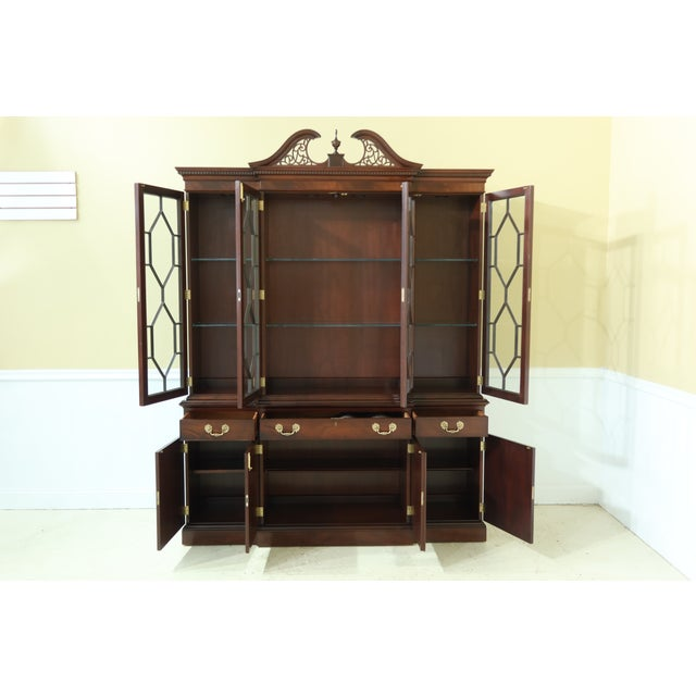 Wood Kittinger Richmond Hill Collection Mahogany Breakfront For Sale - Image 7 of 13