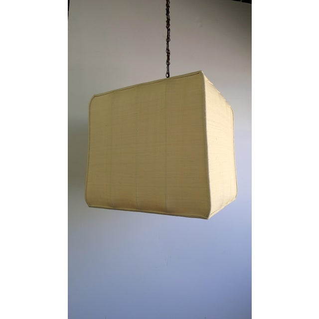 Contemporary Paul Marra Asian-Inspired Four Light Shaded Pendant For Sale - Image 3 of 7