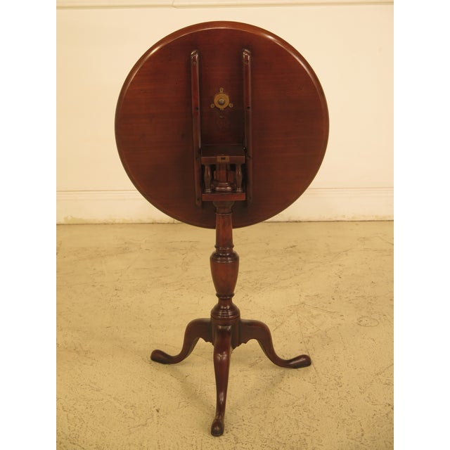 Kittinger Cw-11 Colonial Williamsburg Mahogany Tilt Top Table - Image 3 of 11