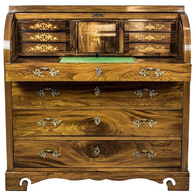 Elm Secretary Desk, circa the 19th Century For Sale