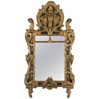 18th Century French Régence Carved Giltwood Mirror For Sale