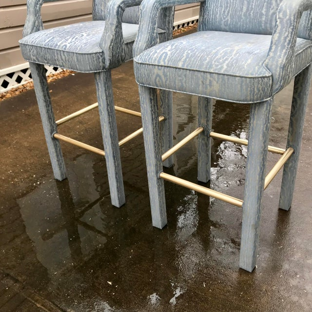 Vintage Parsons Bar Stools - a Pair For Sale - Image 4 of 8