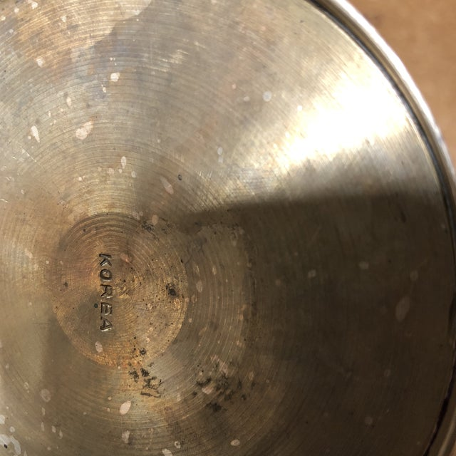 1950s 1950s Solid Brass Artist Cup For Sale - Image 5 of 7