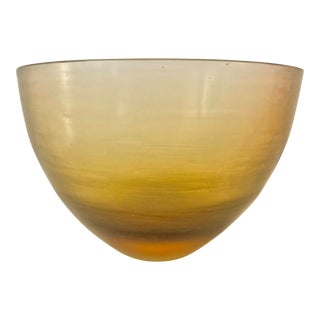 1950s Paolo Venini Signed Inciso Murano Art Glass Bowl For Sale