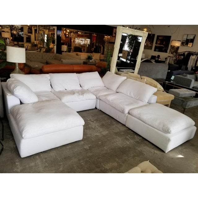 """From Restoration Hardware: """"The world's ultimate sofa, Cloud's modular design nods to the relaxed modernism of the..."""
