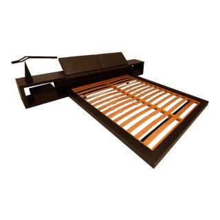 Poliform Zoe Modern Platform Queen Bed For Sale