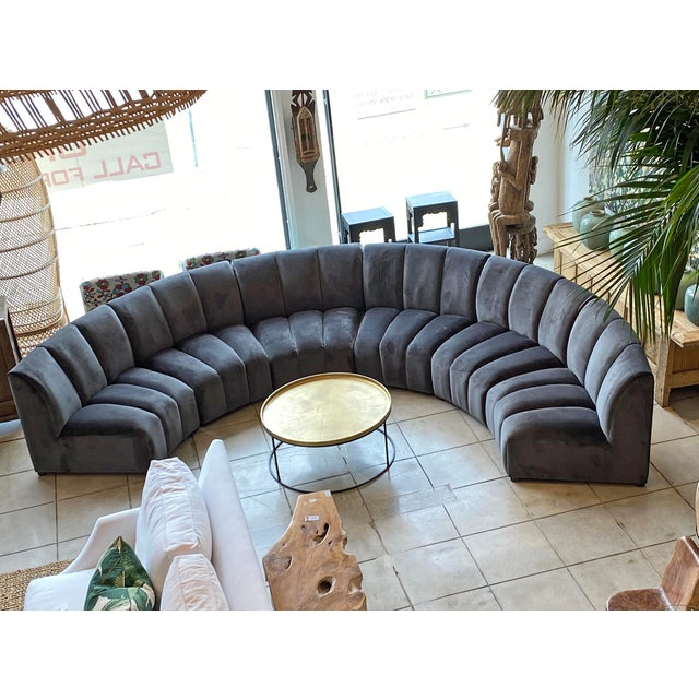 Slate Gray Centipede Sofa For Sale In Los Angeles - Image 6 of 11