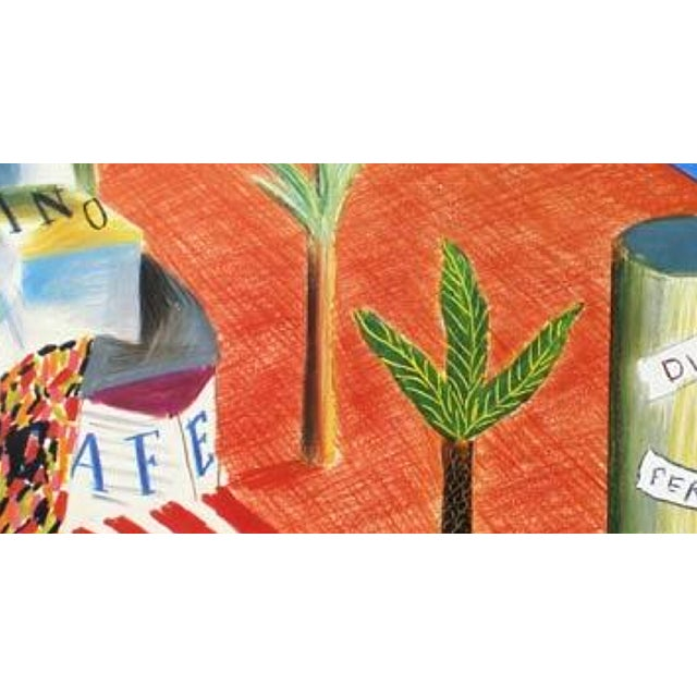 Late 20th Century 1982 Vintage David Hockney Miami Beach Arts Festival Exhibition Poster For Sale - Image 5 of 6