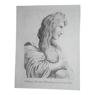 Large Portrait 18th C. Engraving After Raphael For Sale