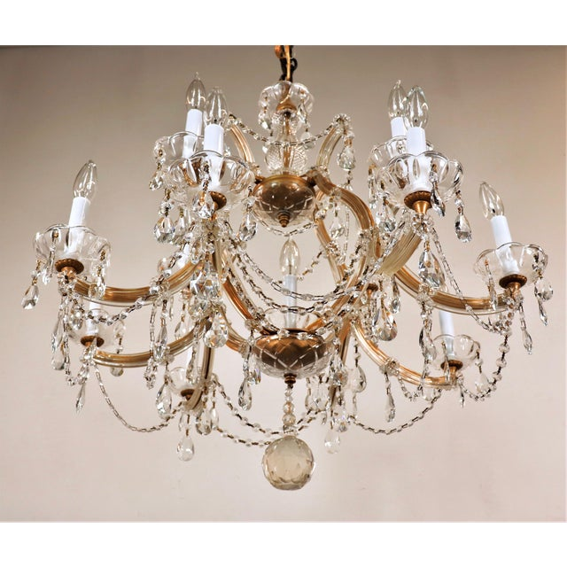 Baroque Vintage Maria Theresa Crystal Chandelier For Sale - Image 3 of 13