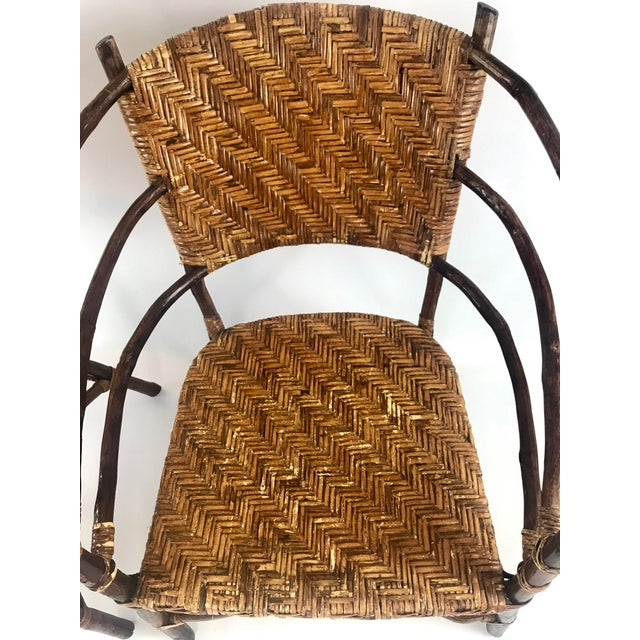 Brown Vintage Barrel Backed Hickory Hoop Arm Chairs - A Pair For Sale - Image 8 of 11