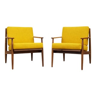 Mid-Century Mellow Yellow Chairs - a Pair