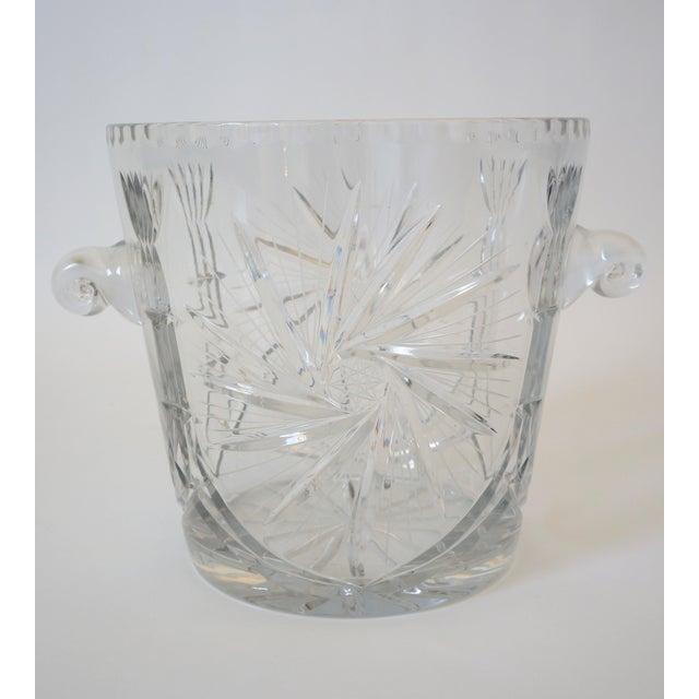 Vintage Ice Bucket Lead Crystal Pressed Design For Sale - Image 4 of 13