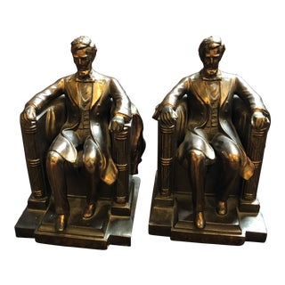 Vintage Lincoln Memorial Bookends, a Pair For Sale