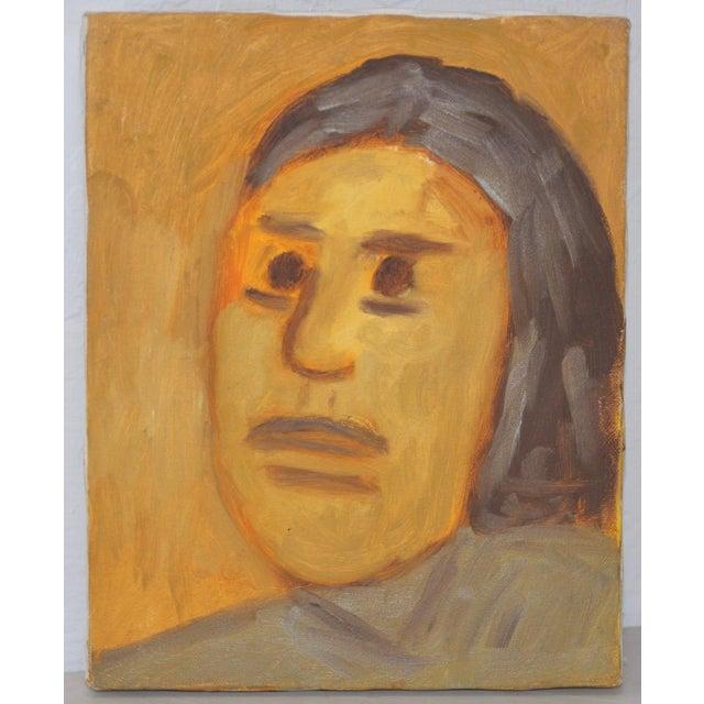 "Modern Arthur J. Krakower ""Laurie"" Original Oil Painting c.1998 For Sale - Image 3 of 3"