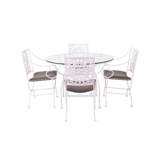 "Arthur Umanoff ""Mayan"" Iron Dining Set for Shaver Howard For Sale"