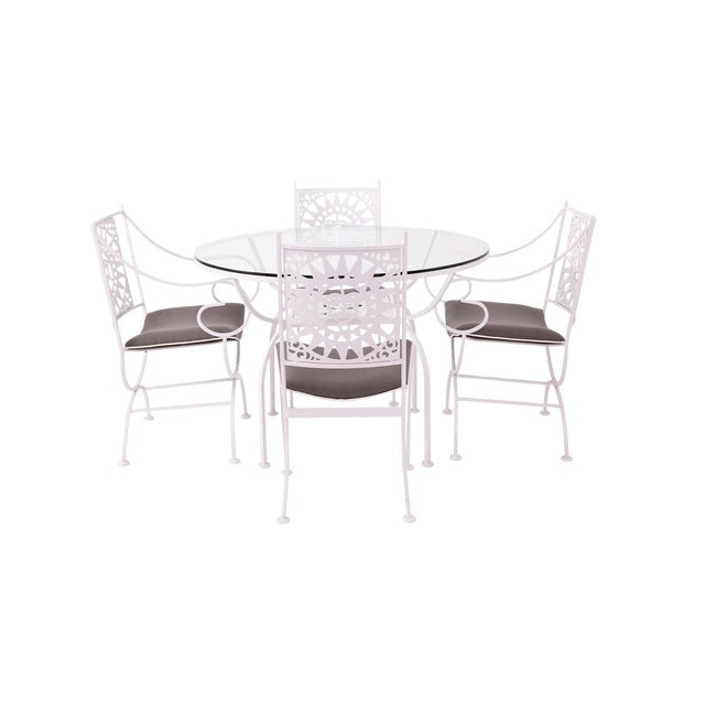 """Arthur Umanoff """"Mayan"""" Iron Dining Set for Shaver Howard For Sale"""