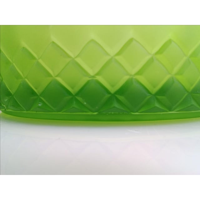 Indiana Glass Green Satin Candy Dish - Image 10 of 10