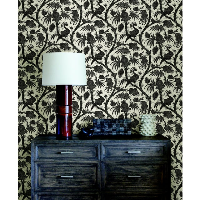 Peel & Stick vinyl wallcovering.6 yd, 30.75 square feet. Originally reproduced from a 19th Century French roller printed...