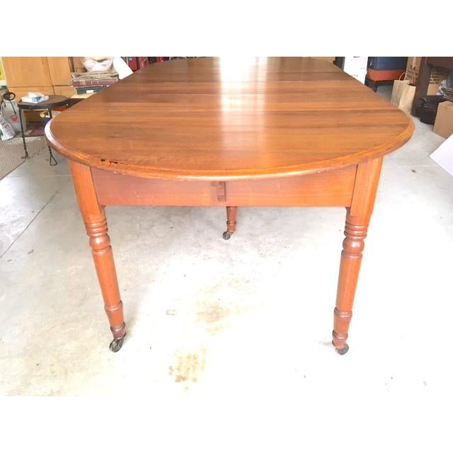 Antique Walnut Dining Table With Leaves For Sale - Image 4 of 13