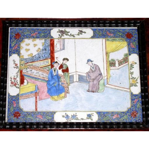 Late 18th Century 18th Century Canton Enamel Plaques - Set of 4 For Sale - Image 5 of 6