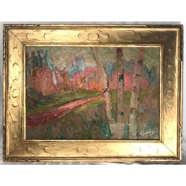 French Fauve Landscape Oil Painting Signed, A. Derain For Sale - Image 11 of 11