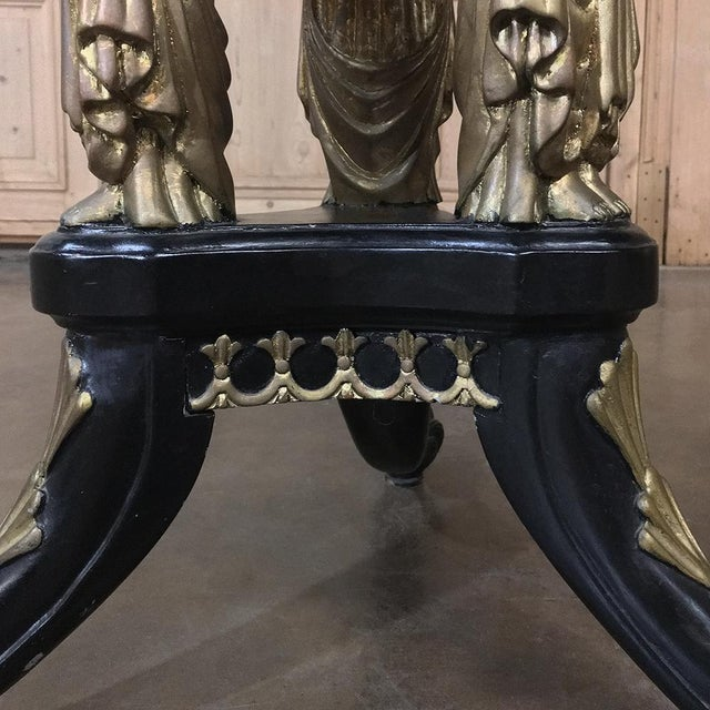 19th Century Second Empire Caryatid Center Table For Sale - Image 9 of 12
