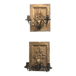 Antique Candle Sconces - a Pair