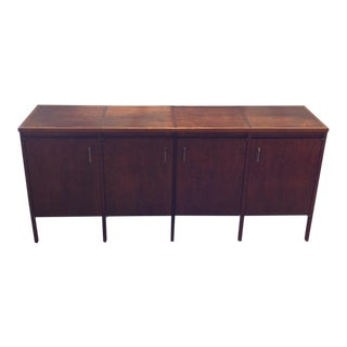 Paul McCobb Lane Delineator Walnut & Rosewood Top Credenza