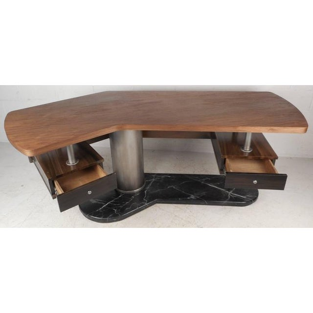 Mid-Century Modern Boomerang Desk For Sale - Image 4 of 11