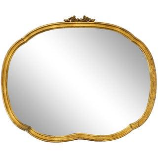 Oval Giltwood Horizontal Vanity Mirror