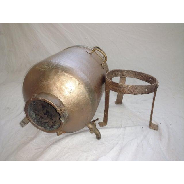 Metal Antique Turkish Water Dispenser Samovar For Sale - Image 7 of 8