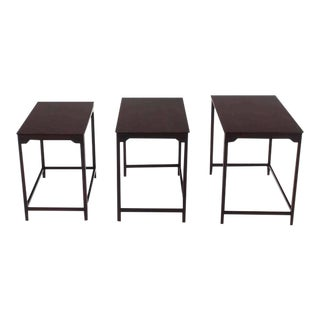 Vintage Mid Century Dunbar Nesting Tables- Set of 3 For Sale